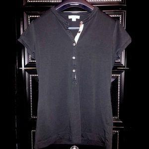 BURBERRY check polo t-shirt